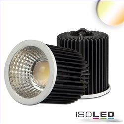 LED Spot weißdynamisch GU10 8W, 3-polig, 24V DC, silber, 60°, 2700k-5700K, CRI80