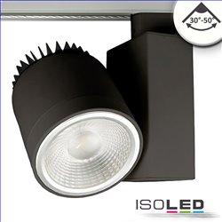 3-PH Schienen-Strahler fokussierbar, 36W, 30°-50°, schwarz matt, 4000K, CRI92, DALI dimmbar