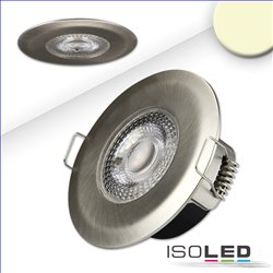 LED Einbaustrahler PC68 IP44, brushed, 5W, 38°, 3000K, SwitchDim