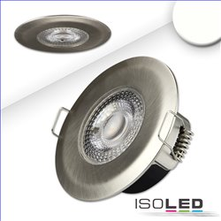LED Einbaustrahler PC68 IP44, brushed, 5W, 38°, 4000k, SwitchDim