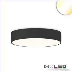LED Deckenleuchte, DM 60cm, schwarz, 52W, ColorSwitch 3000|3500|4000K, dimmbar
