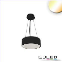 LED Hängeleuchte, DM 40cm, schwarz, 25W, ColorSwitch 3000|3500|4000K, dimmbar