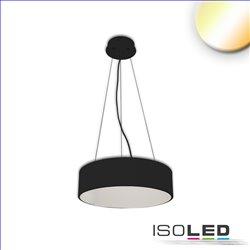 LED Hängeleuchte, DM 60cm, schwarz, 52W, ColorSwitch 3000|3500|4000K, dimmbar