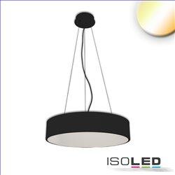LED Hängeleuchte, DM 80cm, schwarz, 105W, ColorSwitch 3000|3500|4000K, dimmbar