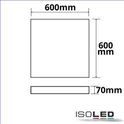 Aufbaurahmen weiß RAL 9016 für LED Panel Backlight/UGR19 Raster Line 600x600