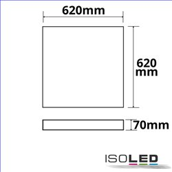 Aufbaurahmen weiß RAL 9016 für LED Panel Backlight/UGR16 Line 625x625