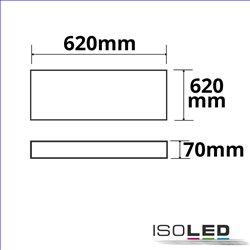 Aufbaurahmen weiß RAL 9016 für LED Panel Backlight/UGR16 Line 1200x300