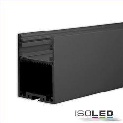 LED Aufbauprofil LAMP30 Aluminium schwarz RAL 9005, 200cm